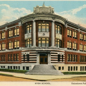 Uniontown High School Postcard